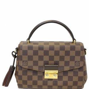 LOUIS VUITTON Croisette Damier Ebene Crossbody Bag